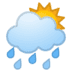 🌦️ Sun Behind Rain Cloud Emoji on Google Platform