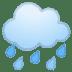 🌧️ cloud with rain Emoji on Google Platform