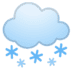 🌨️ cloud with snow Emoji on Google Platform