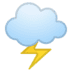 🌩️ Cloud With Lightning Emoji on Google Platform