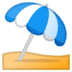 ⛱️ umbrella on ground Emoji on Google Platform