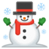☃️ snowman Emoji on Google Platform