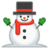 ⛄ snowman without snow Emoji on Google Platform