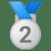 🥈 2nd place medal Emoji on Google Platform