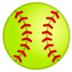 🥎 softball Emoji on Google Platform