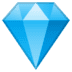 💎 gem stone Emoji on Google Platform