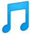 🎵 musical note Emoji on Google Platform