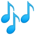 🎶 musical notes Emoji on Google Platform