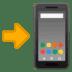 📲 هاتف محمول مع سهم الإيموجي على منصة جوجل