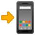 📲 Móvil con flecha Emoji en plataforma Google