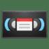 📼 videocassette Emoji on Google Platform