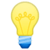 💡 light bulb Emoji on Google Platform