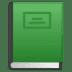 📗 green book Emoji on Google Platform