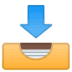 📥 inbox tray Emoji on Google Platform