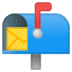 📬 open mailbox with raised flag Emoji on Google Platform