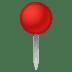 📍 Round Pushpin Emoji on Google Platform