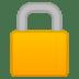 🔒 locked Emoji on Google Platform
