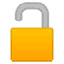 🔓 Unlocked Padlock Emoji on Google Platform