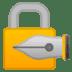 🔏 locked with pen Emoji on Google Platform