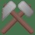 ⚒️ hammer and pick Emoji on Google Platform