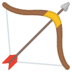🏹 bow and arrow Emoji on Google Platform