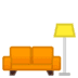 🛋️ couch and lamp Emoji on Google Platform