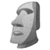 🗿 Moai Emoji on Google Platform