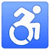 ♿ wheelchair symbol Emoji on Google Platform