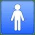🚹 men's room Emoji on Google Platform