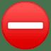 ⛔ no entry Emoji on Google Platform