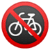 🚳 no bicycles Emoji on Google Platform