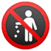 🚯 no littering Emoji on Google Platform