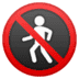 🚷 no pedestrians Emoji on Google Platform