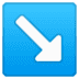↘️ down-right arrow Emoji on Google Platform