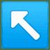 ↖️ up-left arrow Emoji on Google Platform