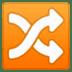 🔀 shuffle tracks button Emoji on Google Platform