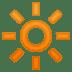 🔆 bright button Emoji on Google Platform