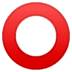 ⭕ Hollow Red Circle Emoji on Google Platform