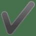 ✔️ check mark Emoji on Google Platform