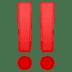 ‼️ double exclamation mark Emoji on Google Platform