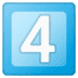 4️⃣ keycap: 4 Emoji on Google Platform