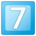 7️⃣ keycap: 7 Emoji on Google Platform