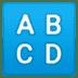 🔠 input latin uppercase Emoji on Google Platform