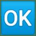 🆗 OK button Emoji on Google Platform