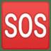 🆘 SOS button Emoji on Google Platform