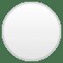 ⚪ White Circle Emoji on Google Platform