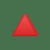 🔺 red triangle pointed up Emoji on Google Platform