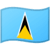 🇱🇨 St. Lucia Flag Emoji on Google Platform