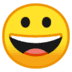 😀 grinning face Emoji on Google Platform