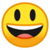 😃 Mukhang Nakangisi at Malaki ang Mata Emoji sa Google Platform